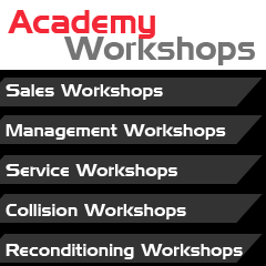 Academy Workshops menu bar